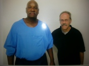 Photo of Sitawa and his brother-in-law Randy during their first contact visit since many years